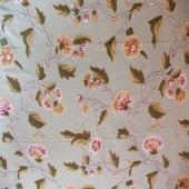 Crewel Fabric Mysore Clock Vine Malati Cotton Duck