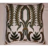 Crewel Pillow Japanese tree lilac Cotton handloom fabric