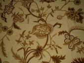 Crewel Fabric Sikkim Golden Sweet Vine Duck Fabric