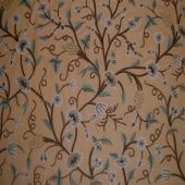 Crewel Fabric Grapes Tree Konkan Duck